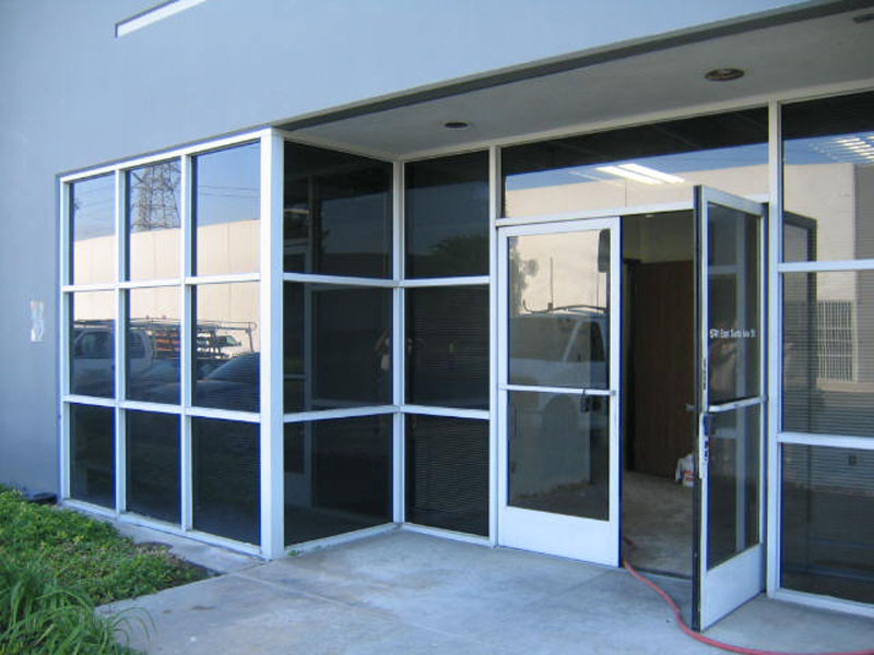 Commercial Door And Window Glass Restoration